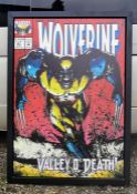 Marvel Wolverine #67 signed by Stan Lee  - Valley O' Death! - Washington Green. Boxed canvas.