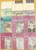 A collection of five FC Barcelona programmes, against Wolverhampton Wanderers; Birmingham City;