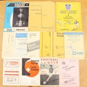 A collection of assorted European programmes to include: Basel v. Bellinzona 15/5/1960; Chiasso v.