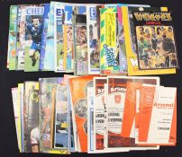 Football programmes, collection of 76 different LIVERPOOL FC AWAY MATCHES, 1964 to 1997, League