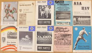 European Programmes: A collection of assorted European programmes to include: VfB Stuttgart v.