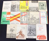 International: A collection of assorted International programmes to include: Luxembourg v England