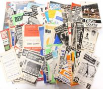 Football Programmes: A collection of assorted Derby County home and away programmes from the late
