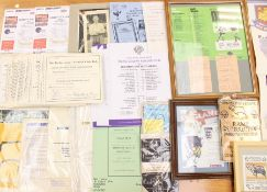 A collection of assorted Derby County memorabilia to include: modern team sheets, share