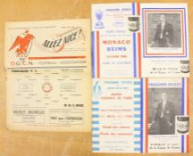 A collection of assorted French football programmes to include: A.C. Milan v. R.C. Paris 11/6/