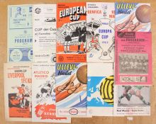 European: A collection of assorted European programmes to include: Eintracht Frankfurt v. Real
