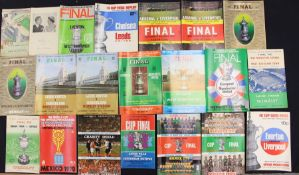 F.A. Cup: A collection of F.A. Cup Final programmes to comprise: Burnley v Charlton Athletic 1947,