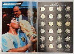 A complete Italy World Cup 1990, Commemorative Medal Collection, comprising 24 commemorative medals,