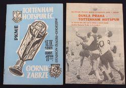 Tottenham Hotspur: A Gornik Zabrze v. Tottenham Hotspur 13/9/1961 programme; together with a Dukla