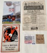 A 1934 F.A. Cup Final Programme, Portsmouth v Manchester City, complete with match ticket and