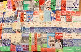 Home Nations: A collection of assorted Home Nation and Inter-League football programmes, mostly