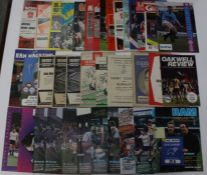 A collection of 37 different Derby County programmes, league and cup interest, 19 homes from 1947/48