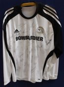 Derby County Memorabilia: A Derby County signed football shirt, approx. 27 signatures, 2009-2010