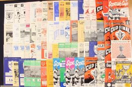 Scottish: A collection of assorted 1950's and 60's Scottish football programmes to include: