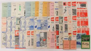 A collection of 1950's and 60's football programmes to include: Kettering Town; Bedford Town;