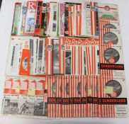 Football programmes, collection of 110 different SUNDERLAND HOME MATCHES, 1954 to 1996, League and