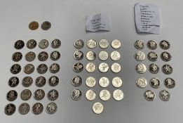 A complete set of 24 commemorative medals, Italy World Cup 1990 Collection, loose; together with two