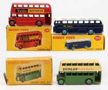 Dinky: A collection of three boxed Dinky Toys to comprise: BOAC Coach, 283, blue and white body,