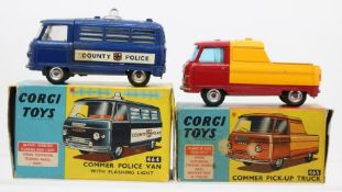 Corgi: A boxed Corgi Toys, Commer Police Van with Flashing Light, 464, vehicle appears good,