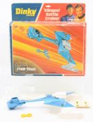 Dinky: A boxed Dinky Toys, Star Trek, Klingon Battle Cruiser, blue and white main body, with inner