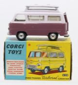 Corgi: A boxed Corgi Toys, Ford Thames 'Airborne' Caravan, 420, two-tone lilac, slight marking to