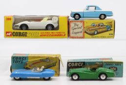 Corgi: A collection of four boxed Corgi Toys to comprise: Lotus Mark Eleven Le Mans Racing Car,