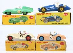 Dinky: A collection of four boxed Dinky Toys to comprise: Connaught Racing Car, 236, green