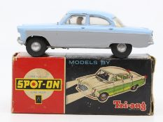 Spot-on: A boxed Spot-on, Ford Zodiac Model 100/SL, complete with clean battery box, working