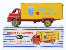 Dinky: A boxed Dinky Supertoys, Big Bedford Van, Heinz Beans, 923, red cab and yellow trailer,
