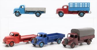 Dinky: A collection of five unboxed Dinky Toys trucks, to comprise: Austin (2); Fordson; Dodge
