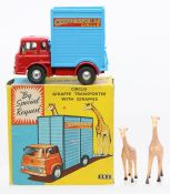 Corgi: A boxed Corgi Toys, Circus Giraffe Transporter with Giraffes, 503, complete with two