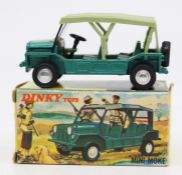 Dinky: A boxed Dinky Toys, Austin Mini Moke, 342, detachable light green hood, dark green main