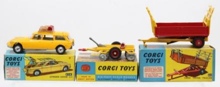 Corgi: A collection of three boxed Corgi Toys to comprise: Citroen Safari ID19, 436, paint chips