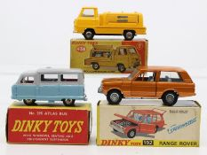 Dinky: A collection of three boxed Dinky Toys vehicles to comprise: Atlas Autobus, two-tone blue and