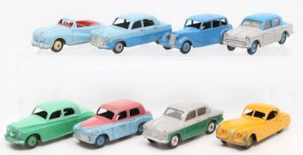 Dinky: A collection of eight unboxed, playworn, Dinky Toys vehicles to comprise: Singer Gazelle 168;