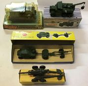 Dinky: A collection of four Dinky military vehicles to include: Striker Anti-Tank Vehicle 691,