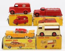 Dinky: A collection of four boxed Dinky Toys to comprise: Mobilgas Tanker, 440, red livery,