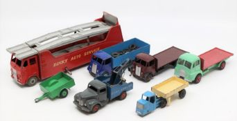 Dinky: A collection of seven unboxed, playworn, Dinky Toys vehicles, to comprise: Guy (2); Dinky