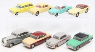 Dinky: A collection of eight unboxed, playworn, Dinky Toys to comprise: Vauxhall Victor Estate, 141;