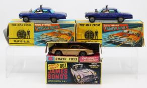 Corgi: A boxed Corgi Toys, The Man from U.N.C.L.E., Gun-Firing Thrush Buster, 497, paint chips,