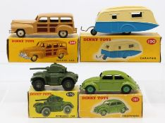 Dinky: A collection of four boxed Dinky Toys to comprise: Volkswagen, 181, green body, one box end