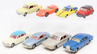 Dinky: A collection of eight unboxed, playworn, Dinky Toys vehicles, to comprise: Triumph 2000, 135;