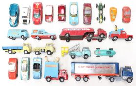 Corgi: A collection of assorted Corgi Toys playworn vehicles, to include various examples of cars