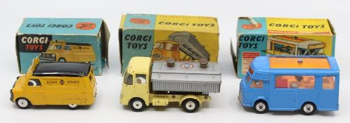 Corgi: A collection of three boxed Corgi Toys commercial vehicles to comprise: Neville Cement Tipper