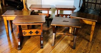 Six Various Arts & Crafts side tables (6)