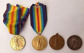 WW1 British Victory Medals x 3 to 181728 Spr FW Hollingdale, RE: 15973 Pte TJ Watts, South Wales