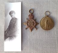 WW1 British 1914-15 Star to 13110 Pte W Goodall, Essex Regt, no ribbon. Along with a Victory Medal