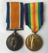 WW1 British War Medal and Victory Medal to 203299 Pte P Titman, Leicestershire Regt. Complete with
