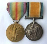WW1 British War Medal and Victory Medal to 50183 Pte S Neal, Northumberland Regiment. Mounted on a