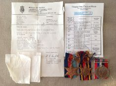 WW2 British RAF Medal group to 1690894 LAC JL Smith comprising of 1939-45 Star, Burma Star and War